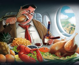 """""""Высокая"""" кухня: как в самолетах появилась еда"""
